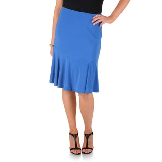 Timeless Comfort by Journee Solid Color Flare Skirt