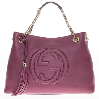 Designer Clothes For Less Stores Gucci Soho Leather Shoulder