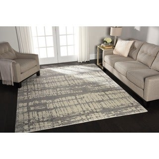 Nourison Twilight Ivory Abstract Rug (8'6 x 11'6)