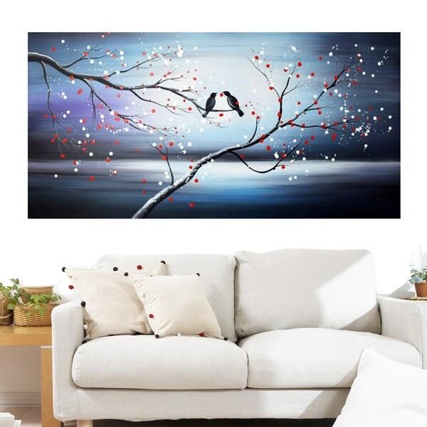 Design Art 'Together Forever Birds' 40 x 20 Canvas Art Print
