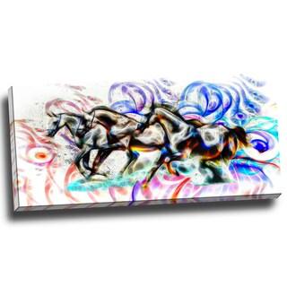 Design Art 'Graffiti Horses' 40 x 20 Canvas Art Print