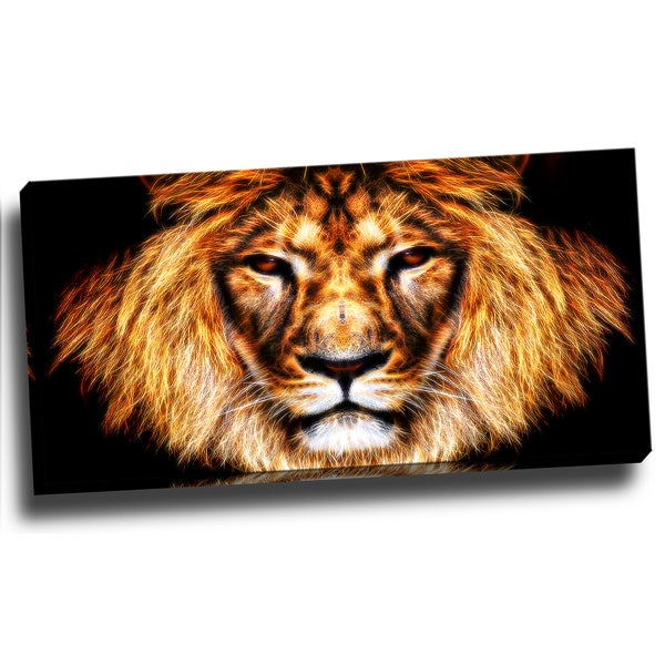 Design Art 'Hear Him Roar' Animal 40 x 20 Canvas Art Print