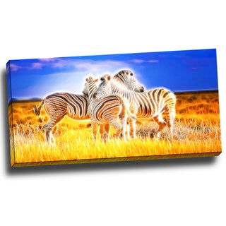 Design Art 'Zebra Duo' Animal Canvas 40 x 20 Canvas Art Print