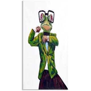 Design Art 'Froggy Looking Sharp' 40 x 20 Canvas Art Print