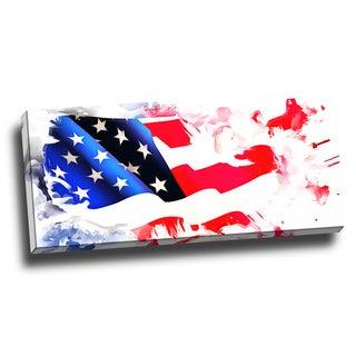 Design Art ' Colors of America' Map Canvas Art Print