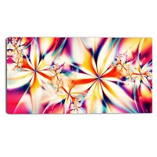 Design Art 'Crystallize Pink' Abstract 40 x 20 Canvas Art Print