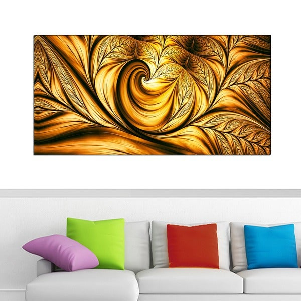 Design Art 'Golden Dream' 40 x 20 Canvas Art Print 15709481
