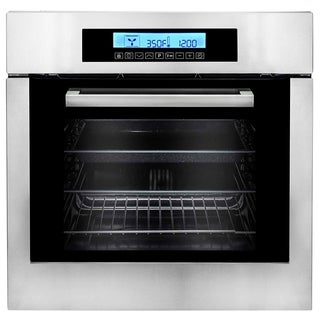 Stainless Steel Electric Wall 24-inch Oven with 10 Functions (c106six-pt)