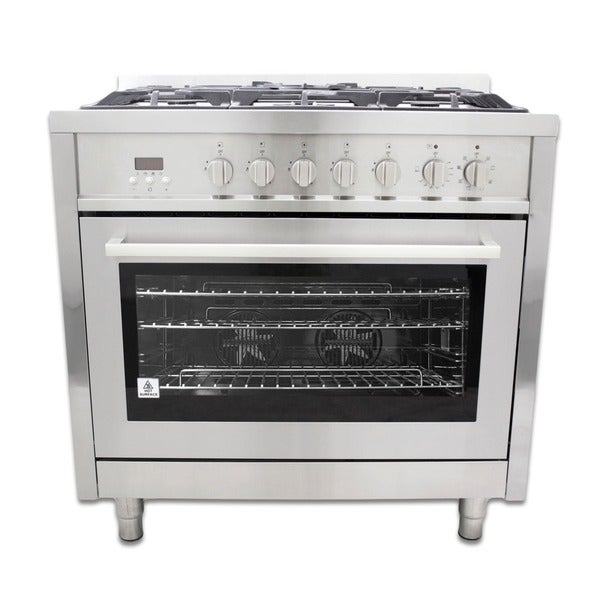 Freestanding/ Slide-in Stainless Steel 36-inch Dual Fuel Range (f965)