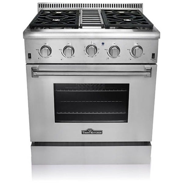 Professional style 30 inch gas range hrg3031u 17418642 overstock