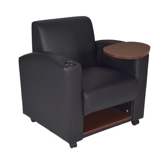 Nova Black/ JavaTablet Arm Chair (Set of 2)