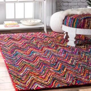 nuLOOM Casual Handmade Modern Cotton Multi Rug (7'6 x 9'6)