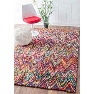 nuLOOM Casual Handmade Modern Multi Cotton Rug (3'6 x 5'6)