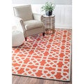 nuLOOM Contemporary Geometric Terracotta Rug (8' x 10')