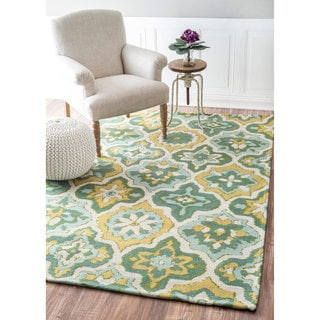 nuLOOM Contemporary Trellis Green Rug (8' x 10')