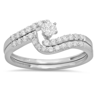 14k White Gold 1/2ct TDW Round Diamond Bridal Ring (H-I ,I1-I2)