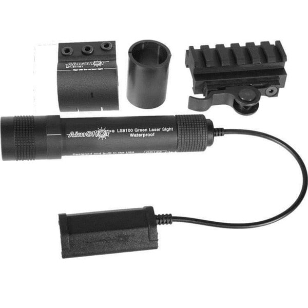 Aimshot Kt81069 Green Laser Sight Kit with Qr Rail Mount