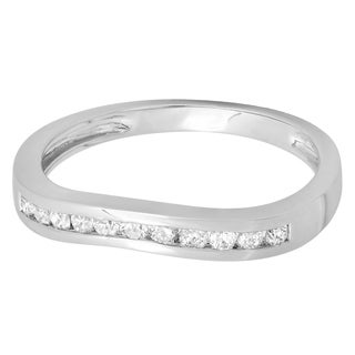 14k White Gold 1/4ct TDW Round-cut Diamond Stackable Anniversary Band (H-I, I1-I2)