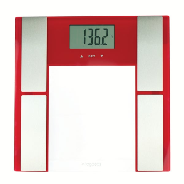 Vitagoods Red Digital Body Analyzer Scale