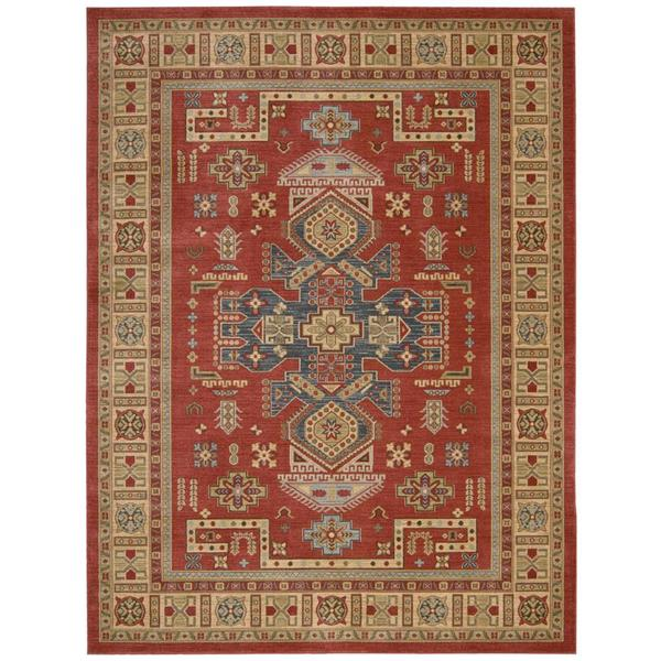9 X 12 Nourison Nourmak Hand Knotted 100 Wool Persian: Nourison Maymana Red Rug (5'3 X 7'4