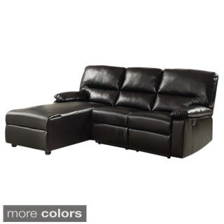 Shostka Sectional Sofa with Recliner Upholstered in Bonded Leather