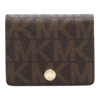 MICHAEL Michael Kors Jet Set Travel Signature Flap Card Holder-Brown