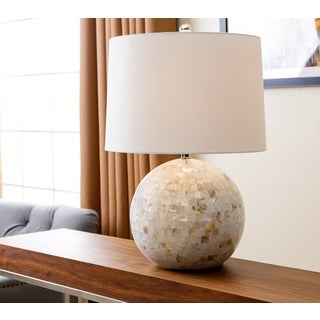 ABBYSON LIVING Ariana Mother of Pearl Mosaic Round Table Lamp