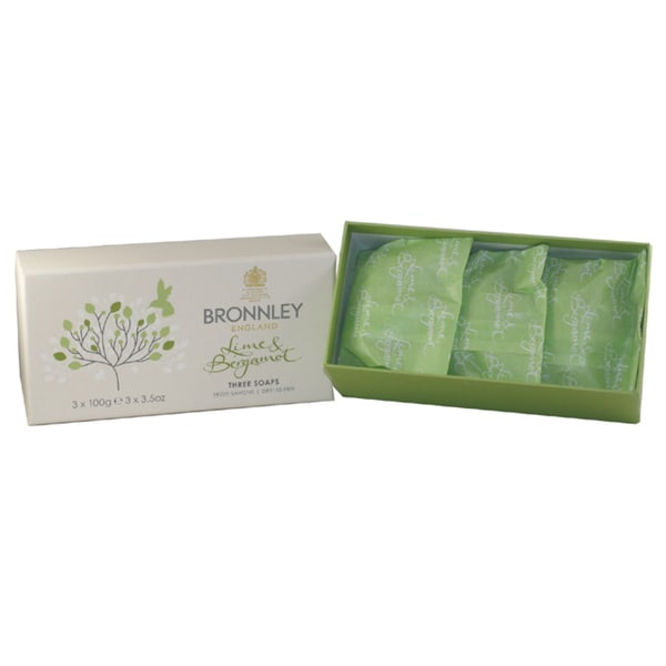Lime & Bergamot By Bronnley England Soaps (Pack of 3)