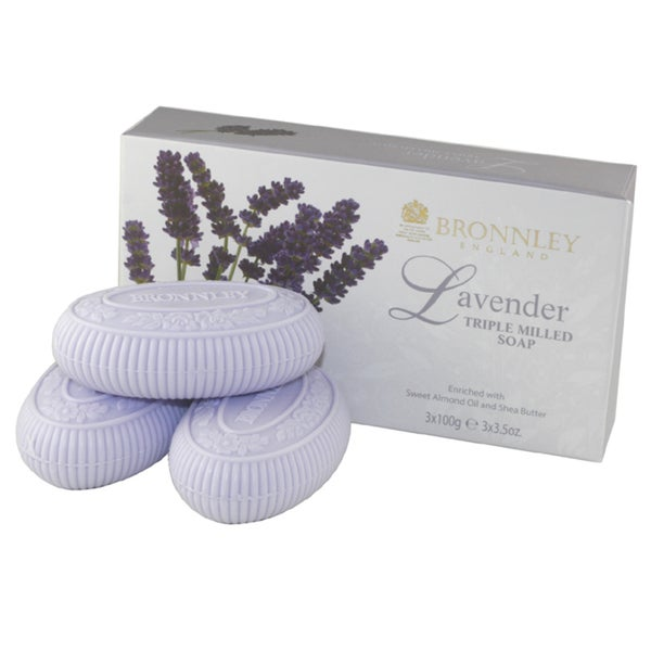 Lavender By Bronnley England Triple Milled Soaps (Pack of 3)