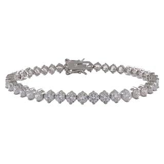 Sterling Silver Cubic Zirconia 4-mm Tennis Bracelet