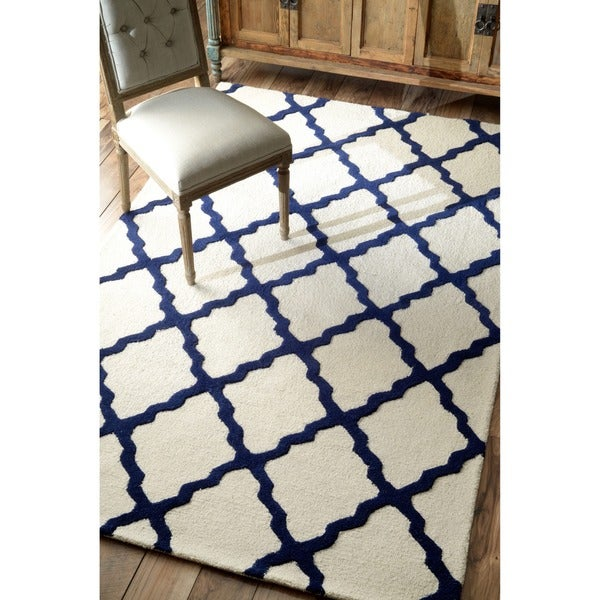 Nuloom Handhooked Alexa Moroccan Trellis Wool Rug 6apos X