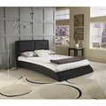 Sleep Sync Shoreline Black Faux Leather Uphostered Platform Bed