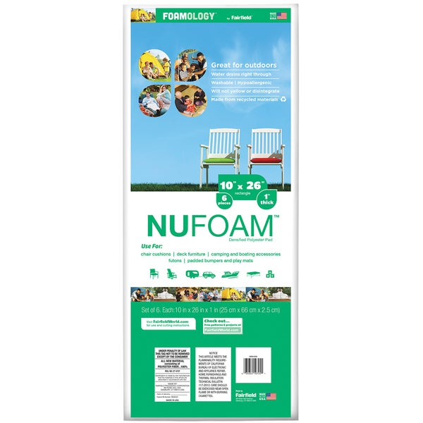 Poly Fil Nu Foam Baby Bumper Pads 6/Pkg 26inX10inX1in FOB: MI
