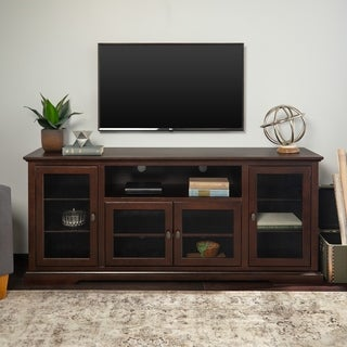 "70"" Espresso Wood Highboy Style TV Stand"