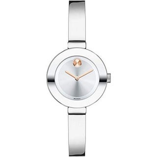 Movado Women's 3600284 Bold Round Silvertone Stainless Steel Bracelet Watch