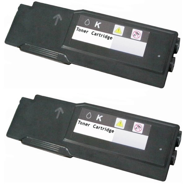 593BBBU Black Toner Cartridge Use for Dell Color Laser C2660dn C2665dnf Series Printers (Pack of 2)