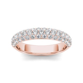 De Couer 14k Rose Gold 1 1/4ct TDW Diamond Women's Wedding Band (H-I, I2)