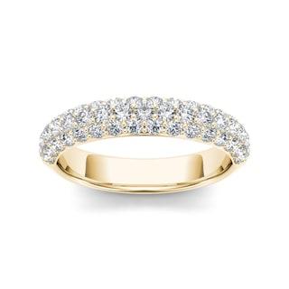 De Couer 14k Yellow Gold 1 1/4ct TDW Diamond Women's Wedding Band (H-I, I2)