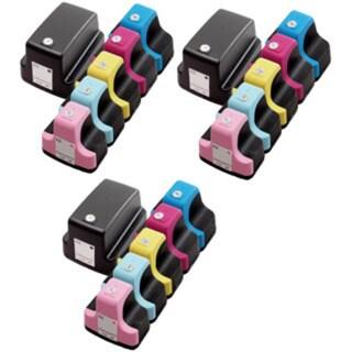 18 Pack HP 02 (3 Black, 3 Cyan, 3 Magenta, 3 Yellow, 3 Light Cyan, 3 Light Magenta ) Ink Cartridge (Pack of 18)