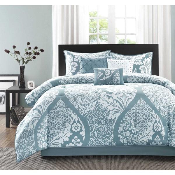 Madison Park Franchesca 7 Piece Cotton Printed Comforter