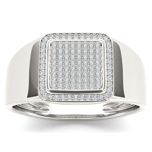 De Couer 10k White Gold Men's 1/4ct TDW Diamond Ring (H-I, I1-I2)