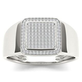 De Couer 10k White Gold 1/4ct TDW Diamond Men's Ring (H-I, I2)
