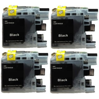 203 LC203 Black Ink Cartridge for Brother MFC-J4320DW MFC-J4420DW MFC-J4620DW MFC-J5520DW MFC-J5620DW MFC-J5720DW (Pack of 4)