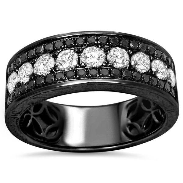 noori 14k black gold men 39 s 1 1 2ct tdw black diamond wedding band