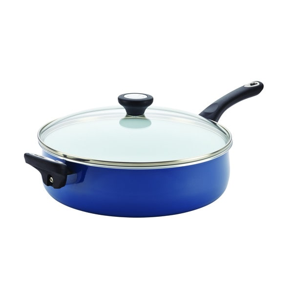 Farberware PURECOOK(tm) Ceramic Nonstick Cookware 5-Quart Covered Jumbo Cooker with Helper Handle
