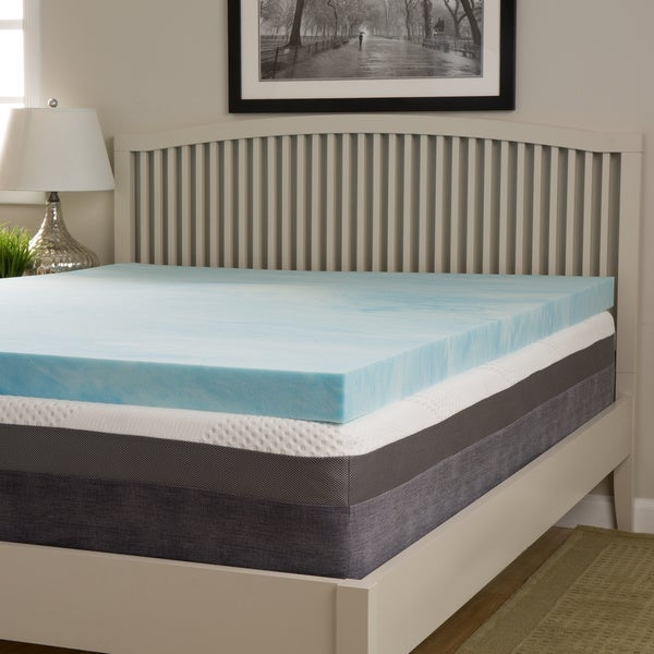 Slumber Solutions Choose Your Comfort 4-inch Gel Memory Foam Mattress Topper