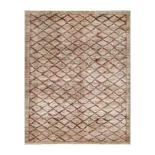 Herat Oriental Afghan Hand-knotted Tribal Vegetable Dye Gabbeh Light Brown/ Red Wool Rug (4'9 x 6')