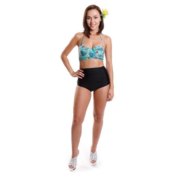 Hadari Women's Bustier Top Two-Piece Bikini