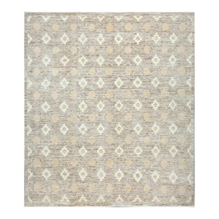 Herat Oriental Afghan Hand-knotted Tribal Vegetable Dye Gabbeh Beige/ Gray Wool Rug (7'9 x 8'10)