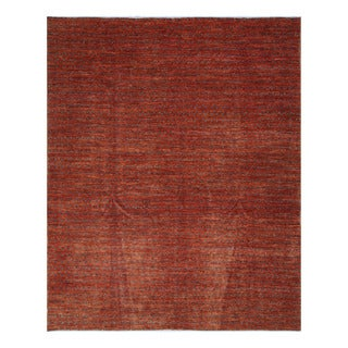 Herat Oriental Afghan Hand-knotted Tribal Vegetable Dye Gabbeh Rust/ Navy Wool Rug (8'1 x 9'11)